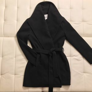BB Dakota belted Banks Melton Rainwear Coat